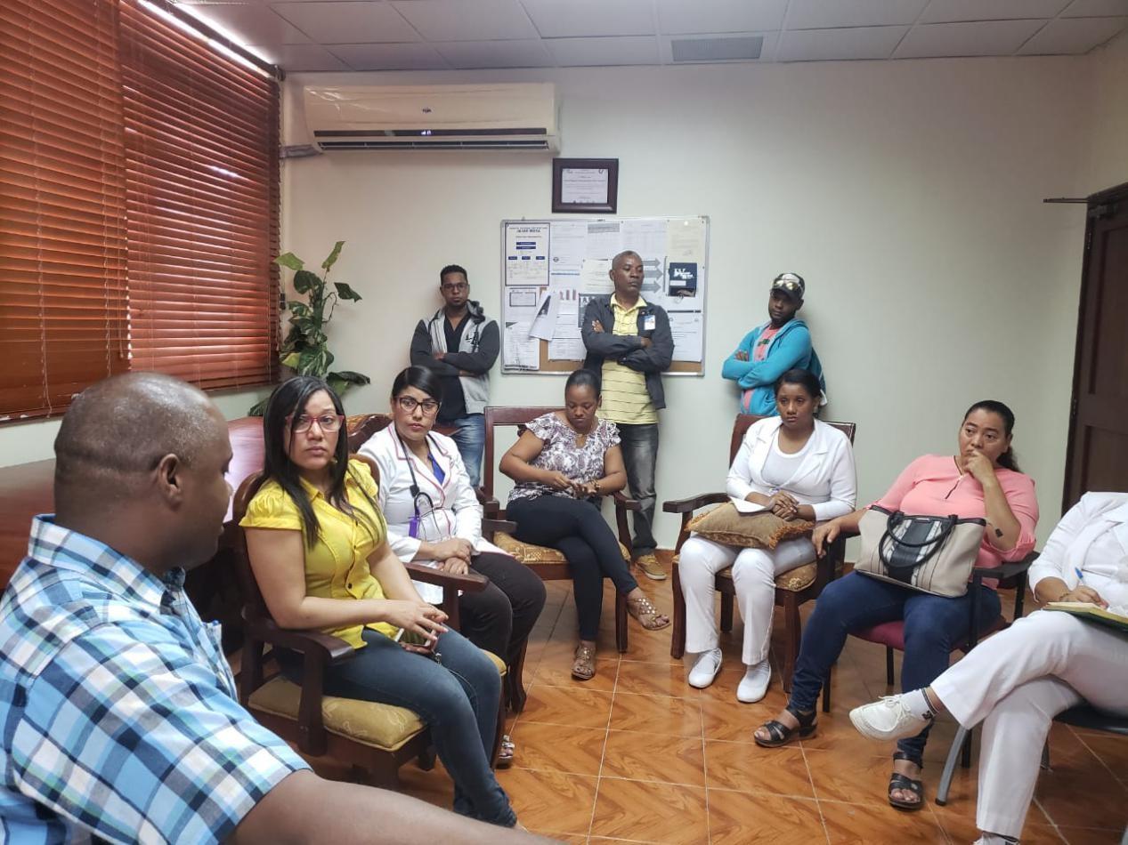 Hospital Jaime Mota se reune con personal de emergencias